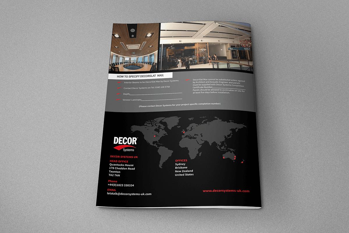 Decor System Brochure Back cover