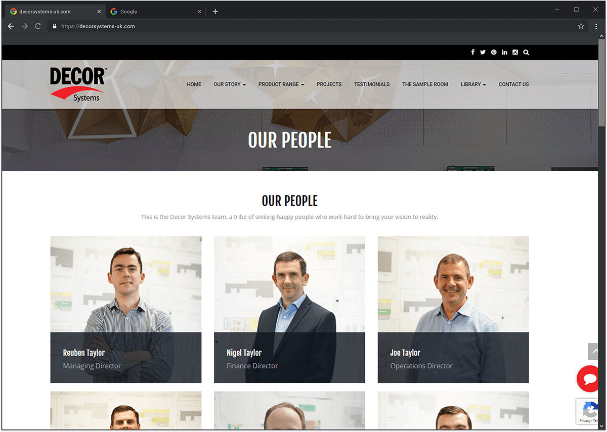 Decor System Website