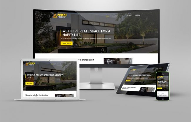 Responsive Website - Delta Construction SW